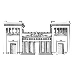 munich famous city place gateway propylaea vector image vector image