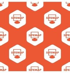 Orange hexagon sitemap pattern vector