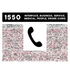 Phone icon and more interface business tools vector