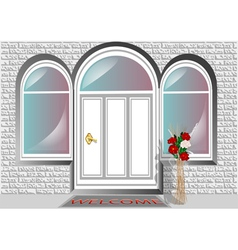 Porch door vector