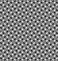 Seamless monochrome triangle pattern design vector image vector image