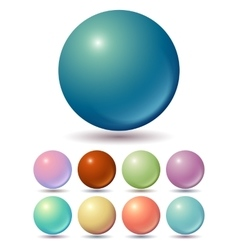 Set of muted color balls vector image