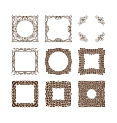 Set of simple linear monograms vector image vector image