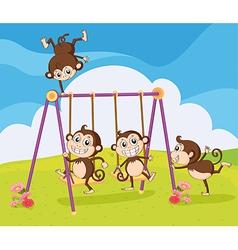 Smiling monkeys vector image vector image