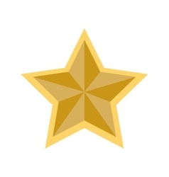 star shape decoration style icon graphic vector image vector image