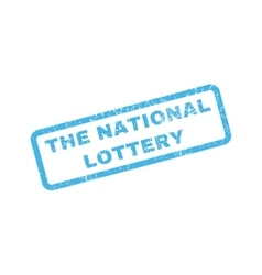 The national lottery rubber stamp vector