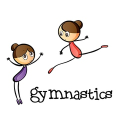 Two gymnasts vector