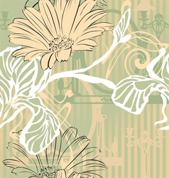 vintage background in modern style vector image