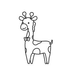 Giraffe cartoon animal childish vector