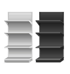 black and white shelves vector image