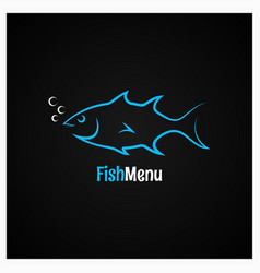 fish logo design background vector image