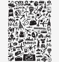 travel transportation doodles vector image