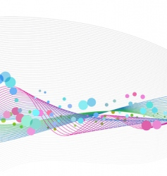 waveform dots vector image