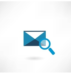 email icon with a magnifying glass vector image