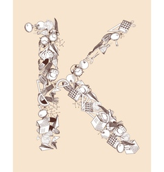 K school alphabet letter vector