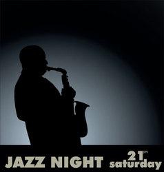 jazz musician vector image