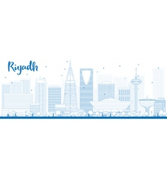 Outline riyadh skyline vector