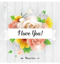 I love you inscription greeting card vector