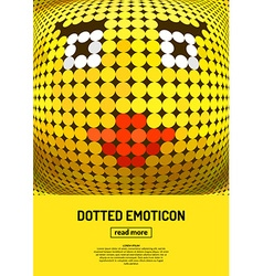 Emotional face icon vector image