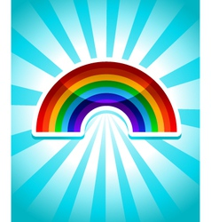 Colorful Rainbow Icon vector image