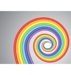 rainbow spiral vector image