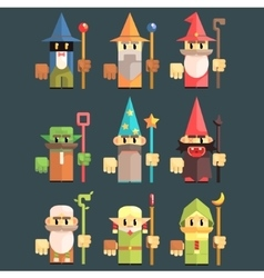 Flash Game Wizard Set vector image