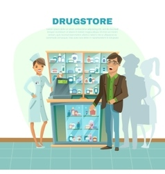 Drugstore cartoon vector