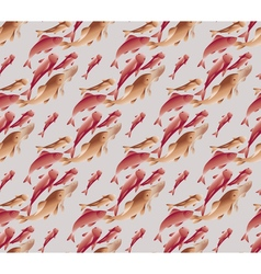 Koi fish pattern in natural elegant color vector