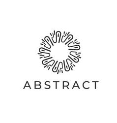 abstract logo design linear circle symbol for vector image vector image