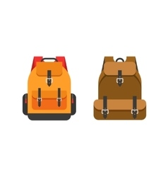 Backpacks isolated school vector image vector image