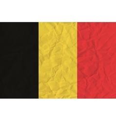 Belgium paper flag vector