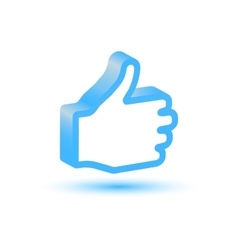 Blue Like hand icon vector image