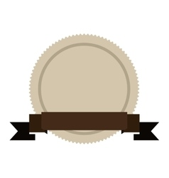 brown seal stamp vector image