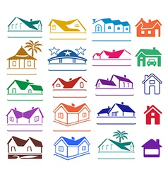 Buildings signs logo set vector image vector image