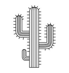 Cactus desert plant icon outline style vector