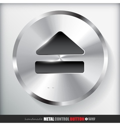 Circle metal eject button vector