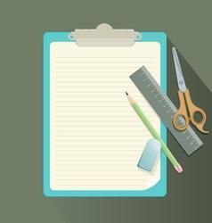 clipboard retro vector image