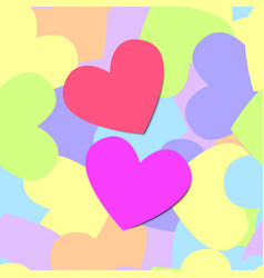 colorful seamless pattern of heart vector image vector image