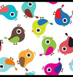 Cute bird seamless vector image vector image