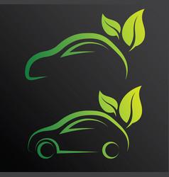 eco car vector image vector image