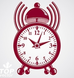 Elegant alarm clock 3d with podcast sign vector