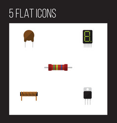 Flat icon technology set of receiver resistance vector