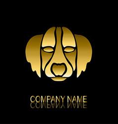 golden dog symbol vector image vector image