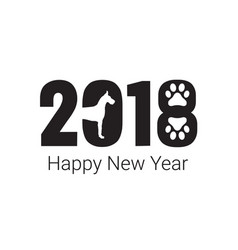 Happy new year 2018 dog chines new year vector