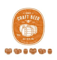 honey beer label and design elements vector image vector image