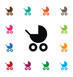 Isolated pram icon buggy element can be vector
