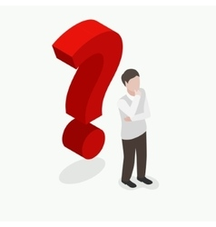 isometric people with question mark vector image