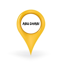 Location abu dhabi vector