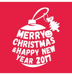 Merry christmas text isolated on background vector image vector image