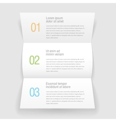 Open booklets letter design infographic template vector image vector image
